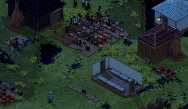 In game - busy colony night