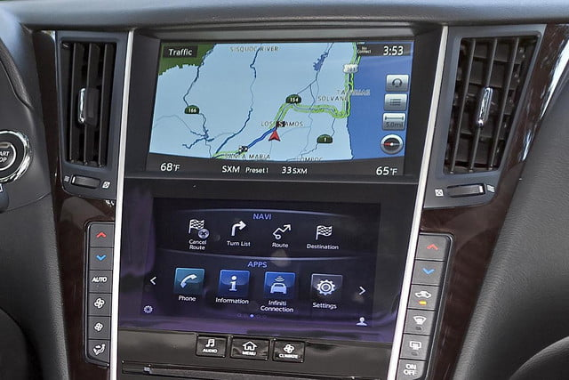 screen two far acura infiniti start worrying trend infotainment s intouch