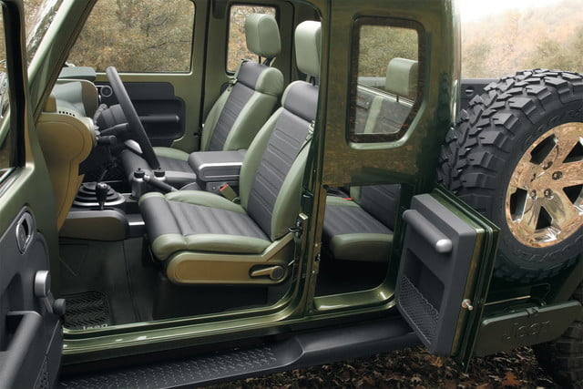 jeep wrangler pickup specs news rumors 2005 gladiator concept 2