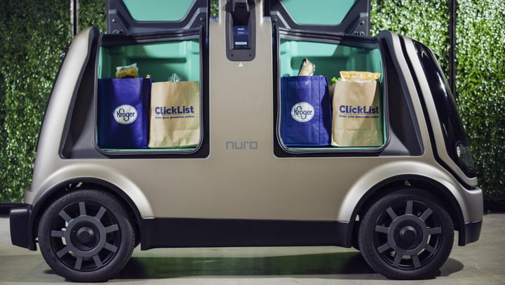 kroger driverless deliveries and nuro delivery vehicle