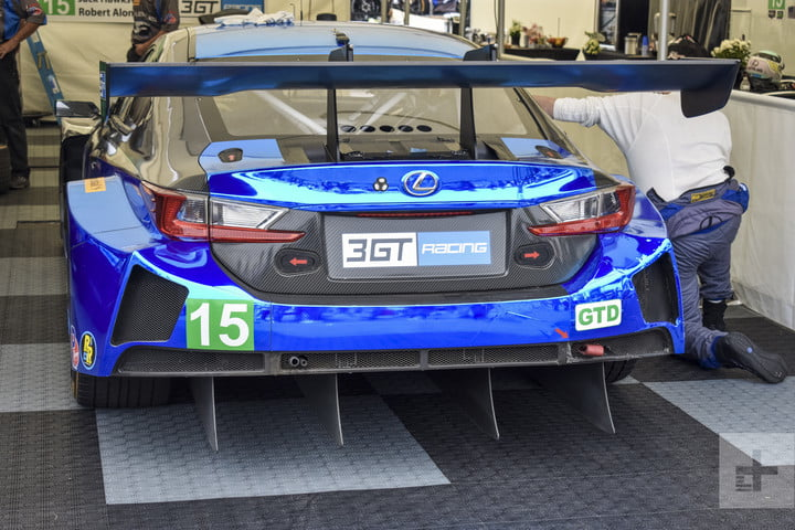 Backside of the Lexus RC F GT3 showing off the spoiler