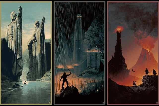 best stranger things style movie posters lord of the rings by matt ferguson