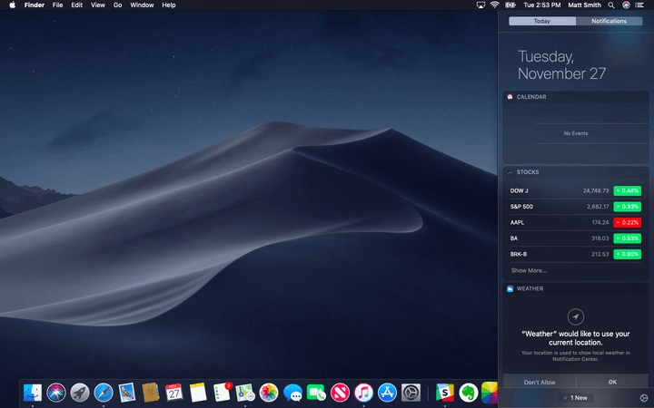 dark mode macos mojave vs windows 10 darkmode desktop