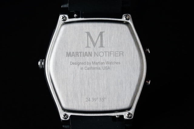 Martian Notifier Watch review logo underside