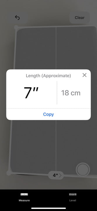 how to use the measure app in ios 12 6