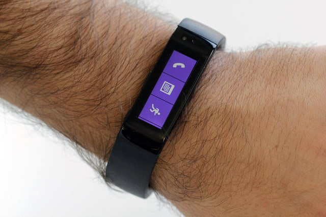 Microsoft Fitness band review on wrist 2