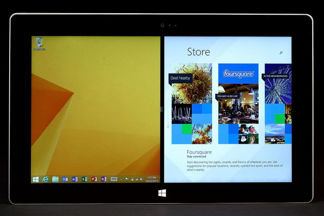 Microsoft Surface 2 front apps
