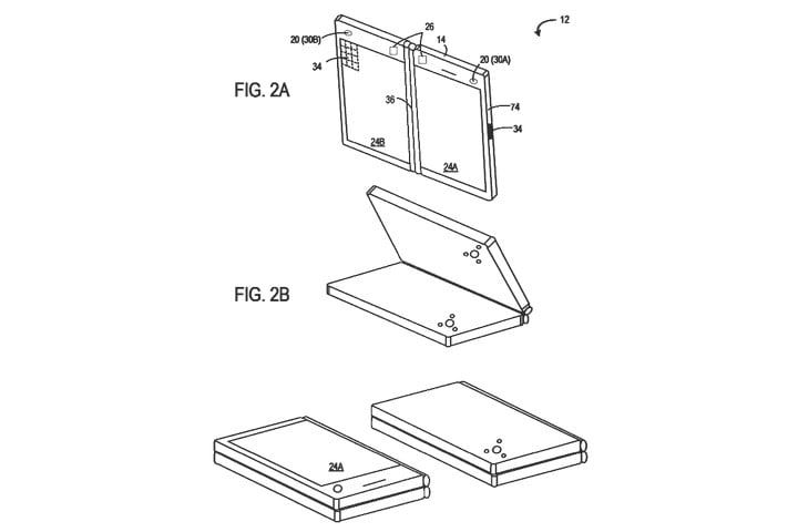 microsoft patents two screen device for three way video calls patent 1