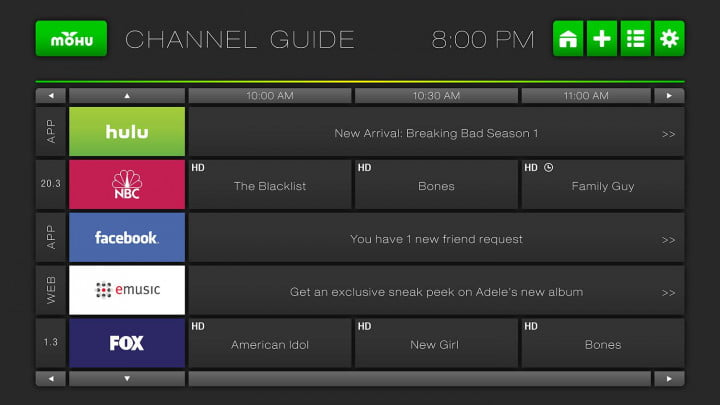 Mohu Channels UI Channel Guide