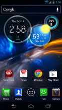 Motorola Droid Razr HD Review screenshot home android smartphone