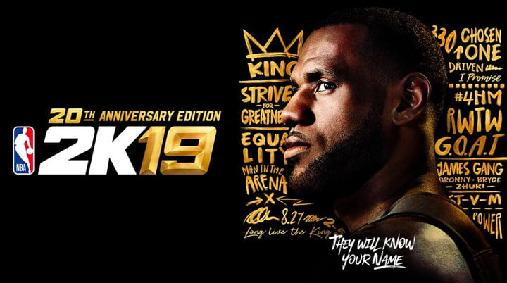 eae3297f8 LeBron James, the GOAT, Graces the 'NBA 2K19' Anniversary Cover ...