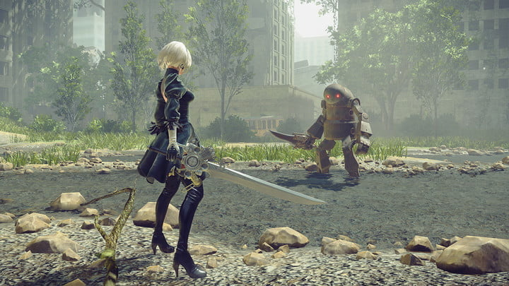 nier automata robot fight