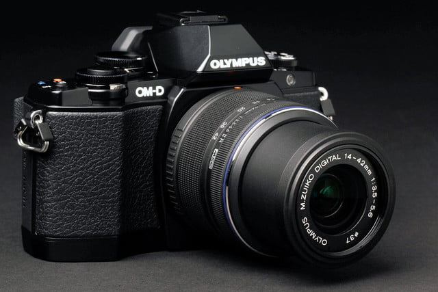 Olympus OM D E M10 front angle