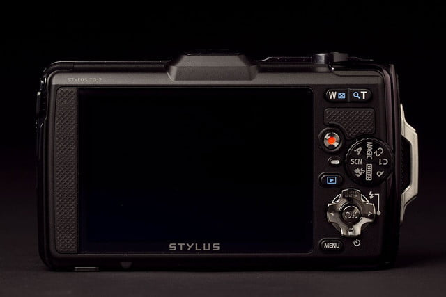 Olympus TG2 tough Camera back screen off