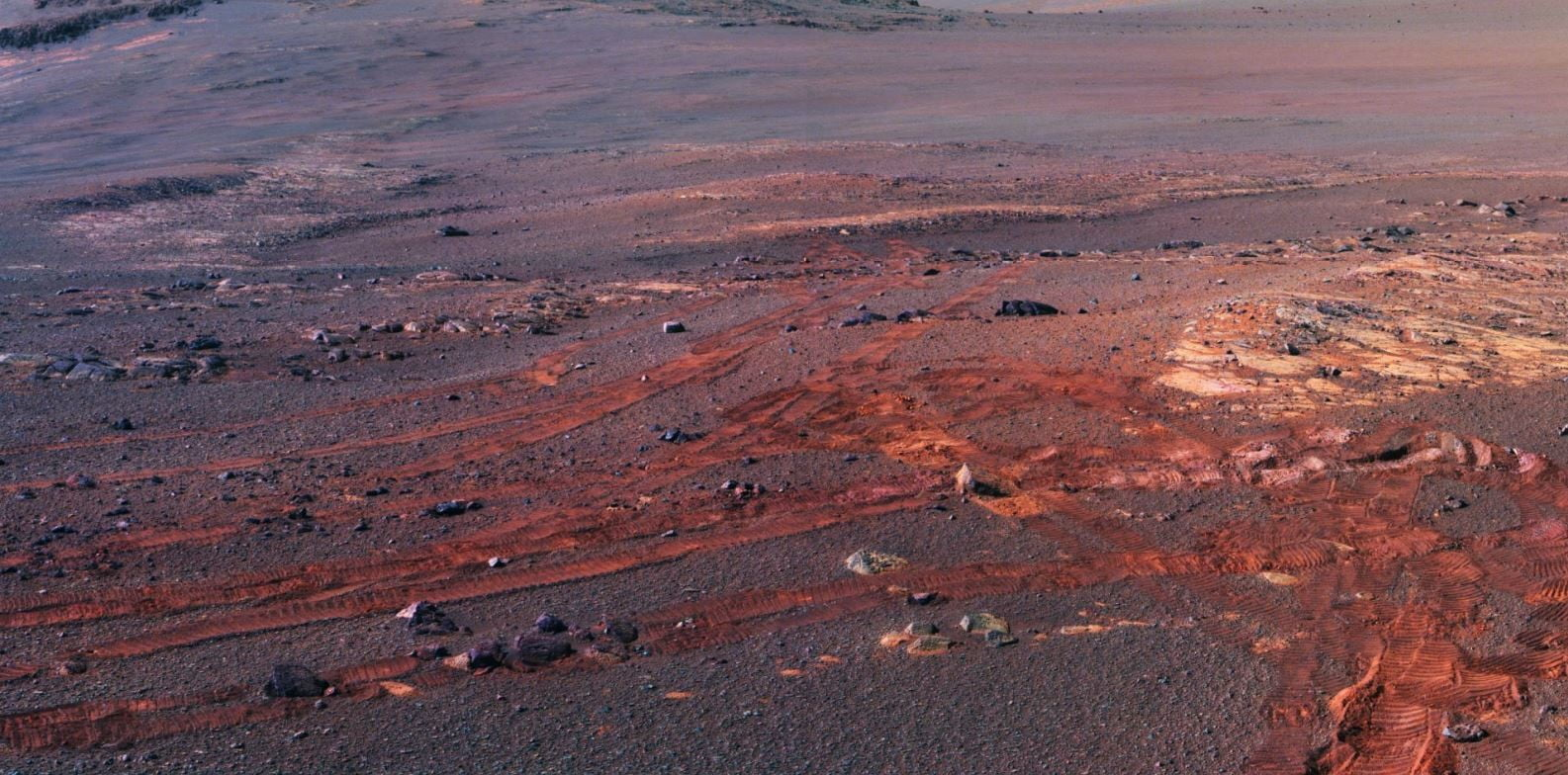 Opportunity's final image is a haunting panorama of the Martian surface