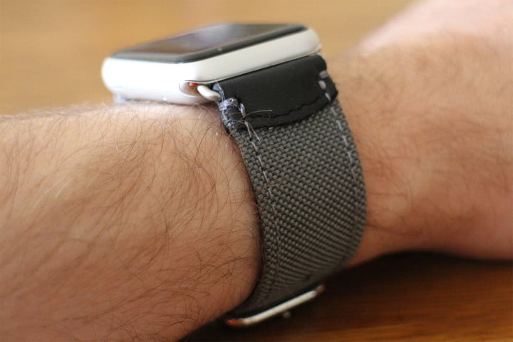 best Apple Watch bands Pad & Quill Field Strap side
