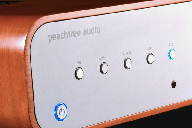 peachtree audio decco65 amplifier front controls angle