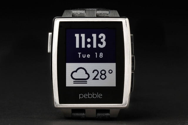 Pebble Steel Watch front home