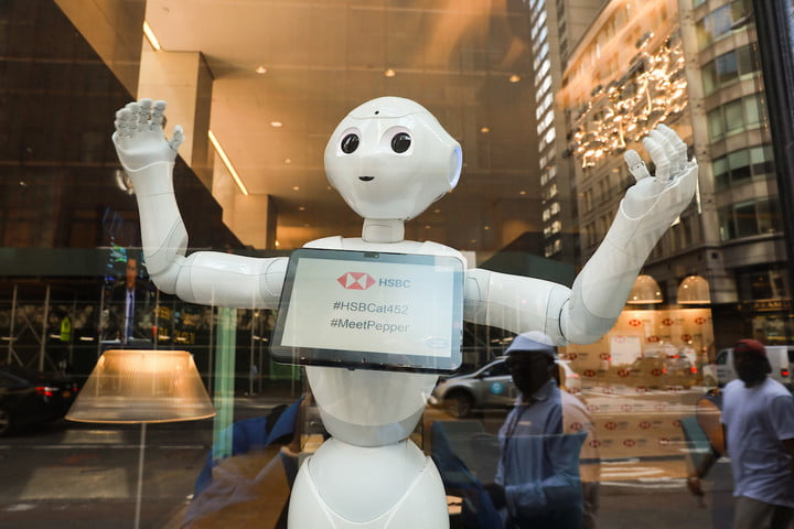 pepper the robot new york city bank