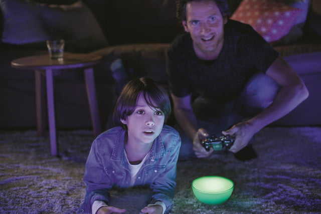 philips hue go is a nifty looking portable led light game
