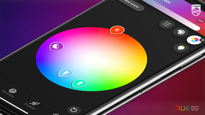 Philips Hue smart home lighting color picker