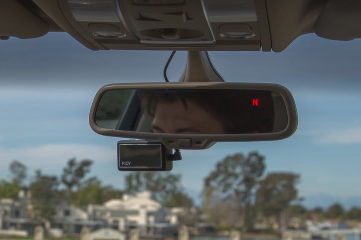 ridy smart camera indiegogo rear mirror mount 1