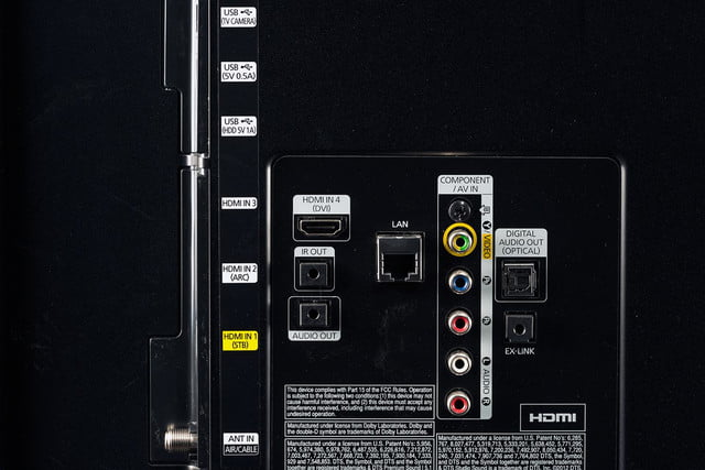 Samsung 7150 HDTV review rear ports 2