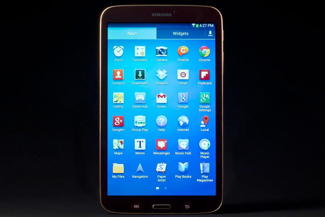Samsung Galaxy Tab 3 review front on