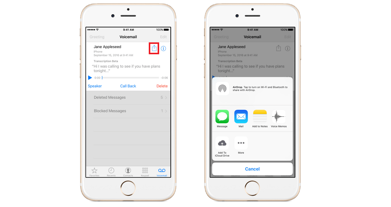 how to change your voicemail on iphone 6