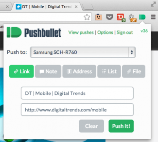 Pushbullet syncs Android Phone - Novofex