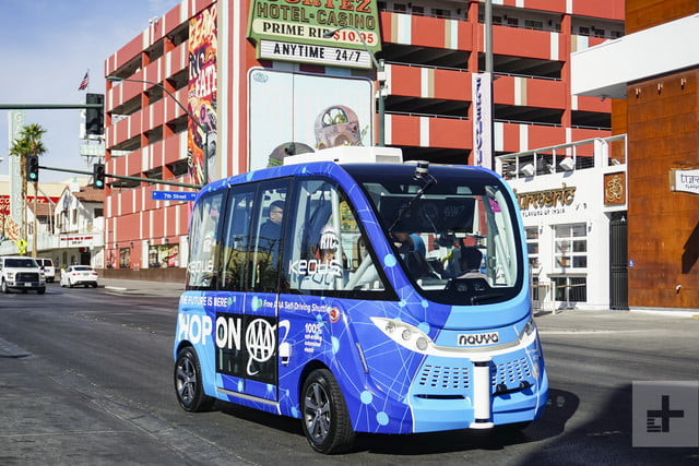 self driving bus crash vegas account 14979