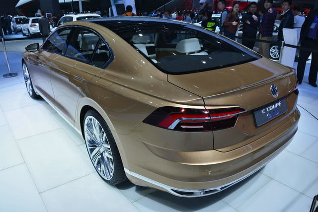 volkswagen c coupe gte concept official pictures and specs shanghai 5