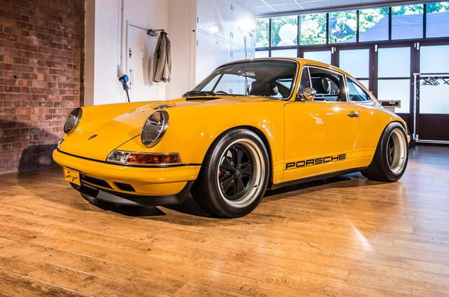 Singer 911 yellow front angle