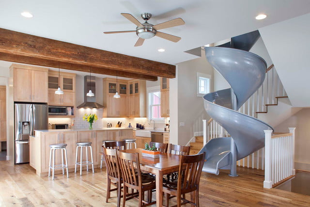 houses with amazing indoor slides sliding into home 31