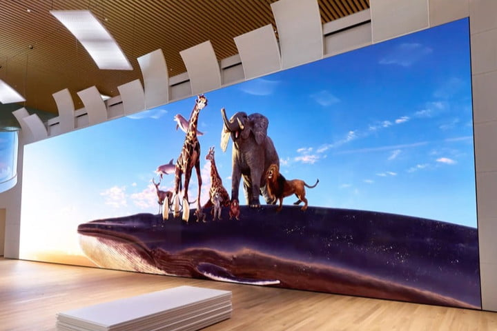 Sonys Massive New 16k Microled Display Stands 17 Feet Tall