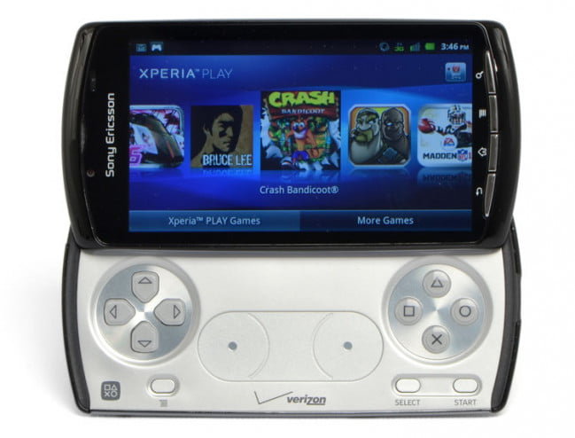 Sony Ericsson Xperia Play screen open controls