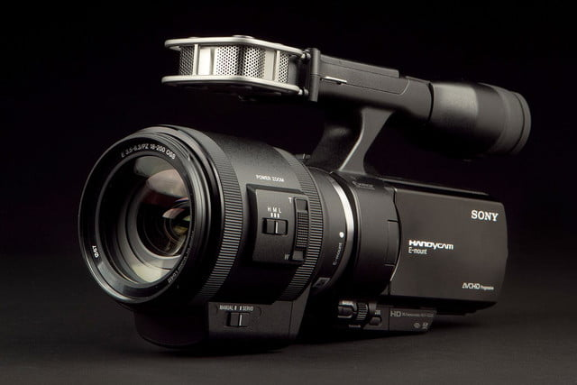 SONY NEX VG 30 Camcorder front left angle