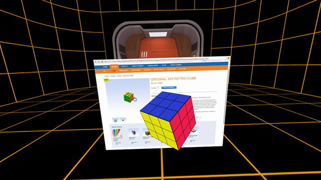 space virtual reality office  6 3d model