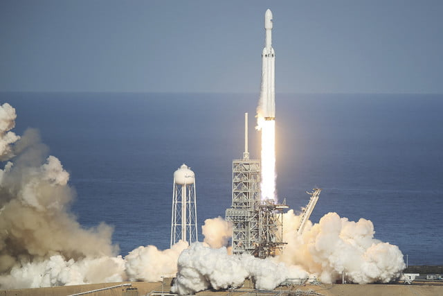 spacex falcon heavy launch success to first lift rocket in demonstration mission