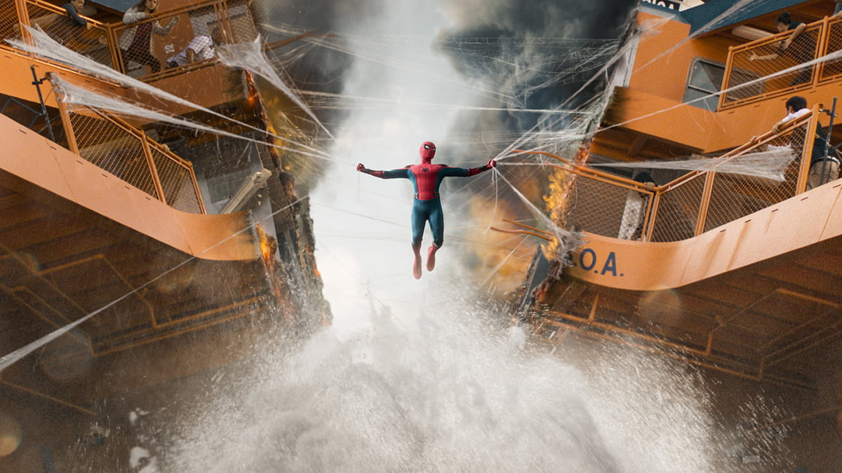 spider man homecoming review vfx