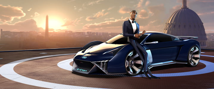 audi anmated concept car spies in disguise