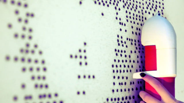 the sprayprinter makes graffiting your wall easy