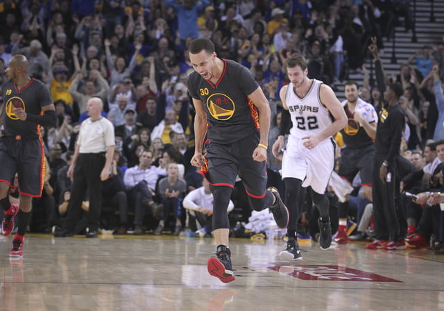 nba photographer jack arent steph curry reacts while playing against the san antonio spurs
