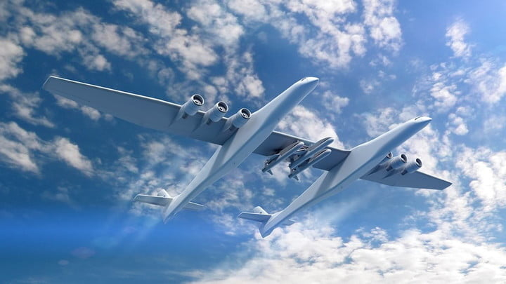 the worlds biggest plane now has some rockets to launch stratolaunch