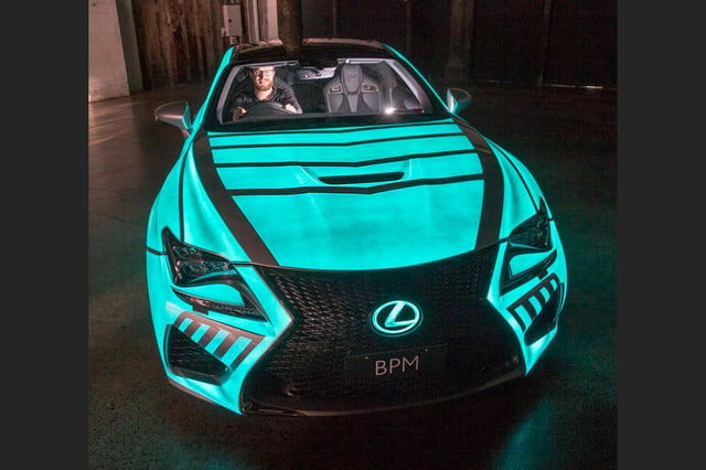 lexus rc f glowing heartbeat paint job pictures video techly lumilor coupe 1