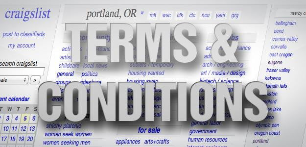 Terms & Conditions: Craigslist's bare-bones privacy policy gets it
