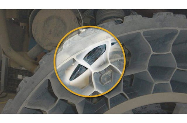 polaris new airless tire can withstand a 50 caliber bullet terrainarmor tires