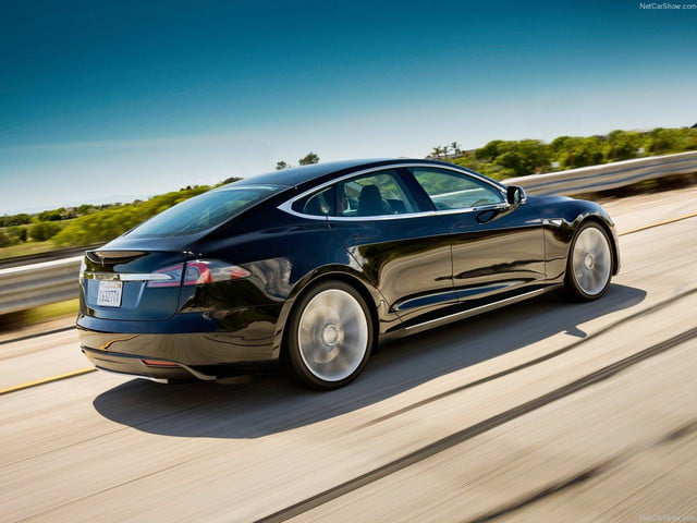 tesla launches pre owned program details prices model s rear angle