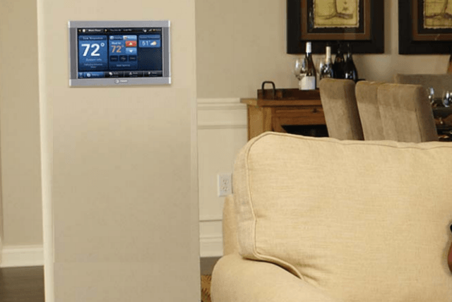 trane 824 thermostat. trane smart thermostat and home automation system hub living room 824