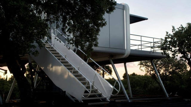 the prefab spaceship house looks like it came from space ufo 2